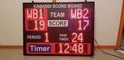 Metal Rectangle LED Scoreboard, For Kabaddi Scoring