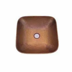 Pedestal Brown Copper Bathroom Basin, For Home, Model Name/Number: RGN-1793