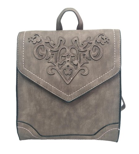 Artificial Leather Girls Backpack