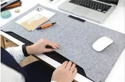 PU Mouse Pad Keyboard Pad, Desk Mat For Office (Grey)