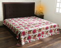 Multicolor Cotton Fruit Printed Kantha Jaipuri Bed Sheet
