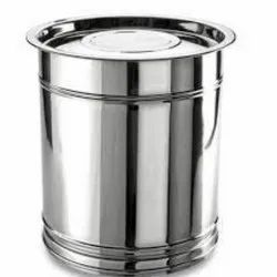 Stainless Steel Kitchen Drum, Capacity: 10 L