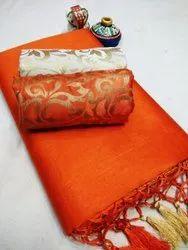 Heavy Chanderi Cotton Indian Wear Saree
