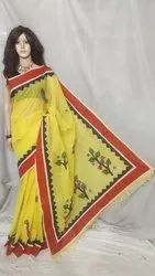 Premium quality cotton applique saree