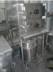 Stainlesssteel Commercial Food Warmer stainless steel Industrial Idli Steamer, Capacity: 180