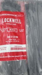 Lockwell Cable Tie 300 x 4.8 Black