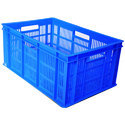 Blue Rectangular Jumbo Plastic Crates