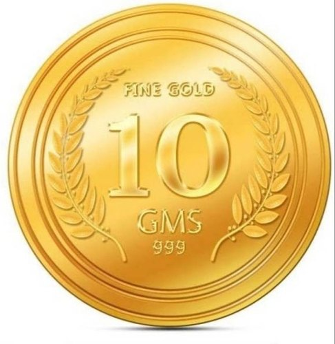 Golden Round Gold Coin Weight 10 Gm Rs 50000 Piece Jai Durge Jewellers Id 21428094388