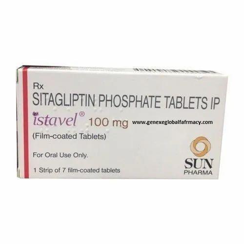 Sitagliptin,Phosphate Istavel 100 mg Sitagliptin Phosphate Tablet, Packaging Type: Box