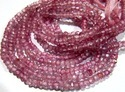 Pink Topaz Rondelle Faceted Beads