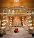 Golden Crystal Theme Wedding Mandap