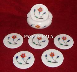 Coasters with Taj Mahal Inlay