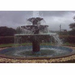 Stone Black Fountain In Hotel