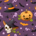 Lewis Chiffon Halloween Printed Kids Pattern Fabric