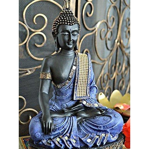 Gold Indian Buddha Ornament Embossed Detail Goddess Statue