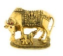 Gold Plated Big Cow Statue