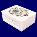 Marble Inlay Jewelry Box
