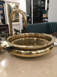 Capstona Golden Calicanto Brass Metal Washbasin
