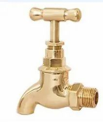 Contemporary Short Body Brass Bib Cock 140gm, For Bathroom Fitting