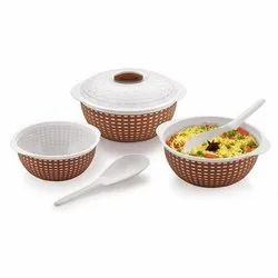 Assorted Tableware Fiesta Plastic Serving Bowl, Packaging Type: Box, Size: Large