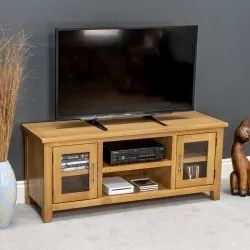 Brown Wooden Corner TV Stand, for Residential, Warranty: 1 Year