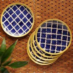 ExclusiveLane Hand Painted Ceramic Plates ( Set Of 6)