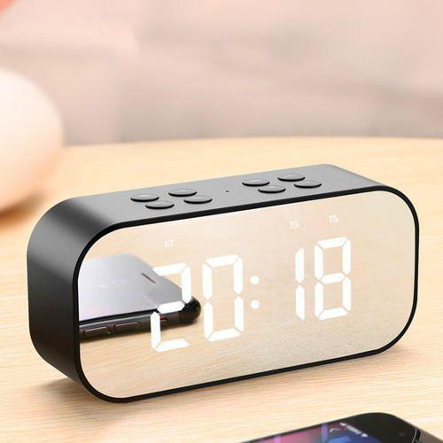 e66bdf4f826 Variant Amp Black Bluetooth Speaker With Trendy Digital Alarm Clock ...