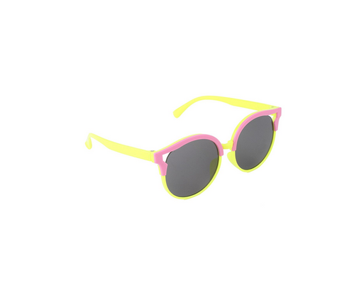 2a838e7cc968 Kids Round Sunglasses For Girls (Yellow And Pink), Childrens ...