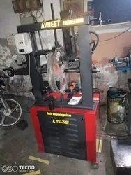 Two wheel repair machine