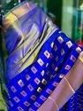 Soft Silk With Golden Chex Saree