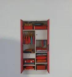 Red Wooden Godrej Almirah H-1