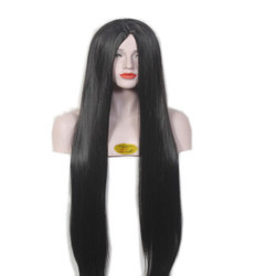 Natural Black Synthetic Full Head Wig