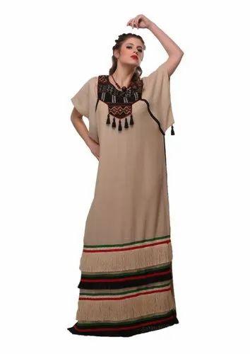 9cc31391a4d0 Georgette Casual Wear Beige Black Kaftan Maxi Dress Abaya, Rs 1500 ...