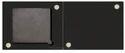 Kiri Cosmetics Black 1 Small Square Empty Magnet Eyeshadow Freedom Palette