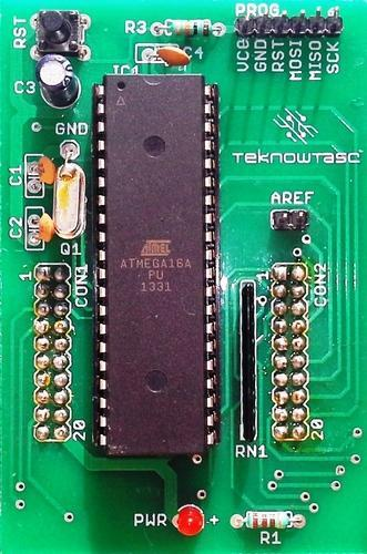 TEKNOWTASC avr microcontroller development board amega16 crystal 11.0592mhz, TKAVR09
