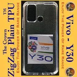 Silicon VIVO Y30 Transparent Mobile Back Cover