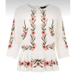Ladies White Embroidered Top