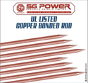 UL Listed Copper Bonded Rod