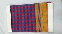 100% Pure Handloom Cotton Bridal Wear Designer Cotton Saree, With Blouse Piece
