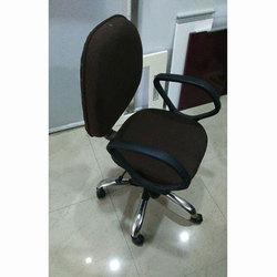Polyester Black Revolving Chair