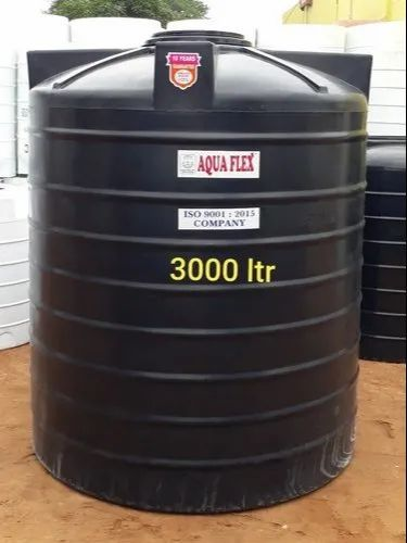 3000 Litre  Black Double Layer Water Tank