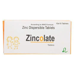 Zincolate Zinc Dispersible Tablet, Packaging Type: Box