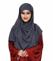 High Quality Viscose Cotton Pearl Work Scarf Hijab