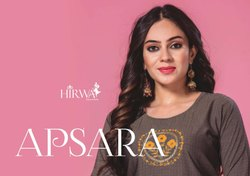 Apsara-Rsf New Long Fancy Rayon With Hand Work For Girls Trendy Kurtis
