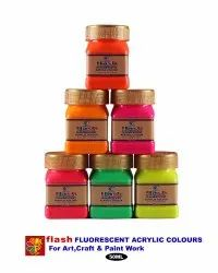 Water Based Paint Flash Acrylic Fluorescent 6 Colour Set, Packaging Size: 50 mL