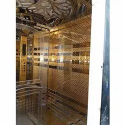 Golden Elevator Cabin