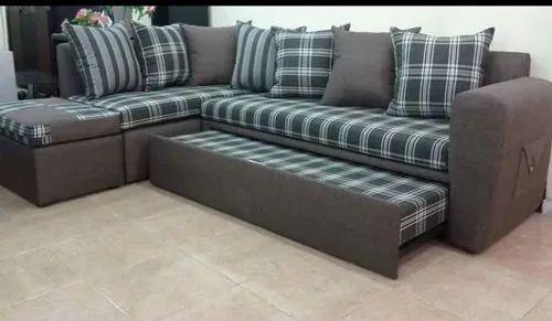 Modern L Shaped Sofa Cum Bed