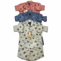 Men Printed Designer Cotton Shirt, Size: 36-44
