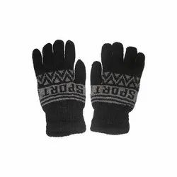 Black Wool Hand Glove