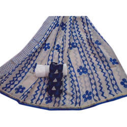 Cotton Chanderi Suits Materials, Construction Type: Machine
